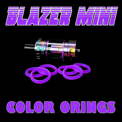 "Blazer Mini ""Sense"" - ""PURPLE"" Color Orings Three Pair by Inked ATTY Replacement O'Rings"