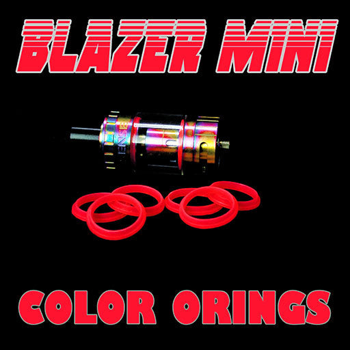 "Blazer Mini ""Sense"" - ""RED"" Color Orings Three Pair by Inked ATTY Replacement O'Rings"