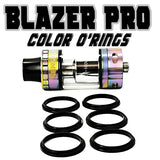 "Blazer PRO ""Sense"" - ""BLACK"" Color Orings Seals Gaskets ( 3x Pair ) by Inked ATTY"