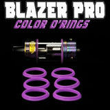 "Blazer PRO ""Sense"" - ""PURPLE"" Color Orings Seals Gaskets ( 3x Pair ) by Inked ATTY"