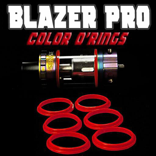 "Blazer PRO ""Sense"" - ""RED"" Color Orings Seals Gaskets ( 3x Pair ) by Inked ATTY"