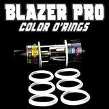 "Blazer PRO ""Sense"" - ""WHITE"" Color Orings Seals Gaskets ( 3x Pair ) by Inked ATTY"