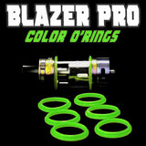"Blazer PRO ""Sense"" - ""GREEN"" Color Orings Seals Gaskets ( 3x Pair ) by Inked ATTY"
