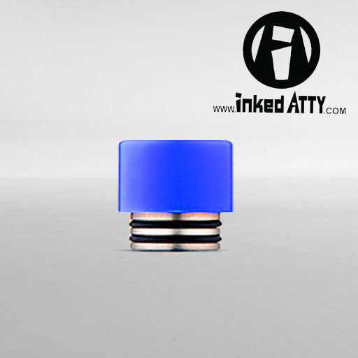 ( 810 Size  ) BLUE - Wide Bore - Delrin Drip Tip - Mouth Piece - Heat Resistant