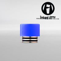 BLUE - Wide Bore - Delrin Drip Tip - Mouth Piece - Heat Resistant