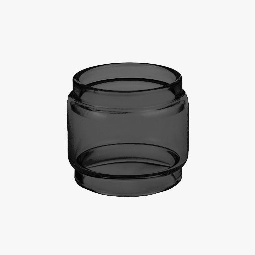 TFV12 - Baby Prince - BLACK - Color Tinted Pyrex - Extended Bubble Glass Replacement Pyrex - 5ML