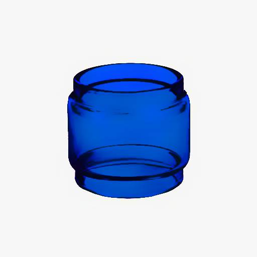 Fat Baby Mesh - Famovape - BLUE Color Tinted Pyrex - Extended Bubble Glass Replacement Pyrex - 6ML