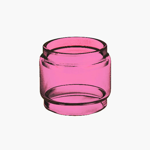 TFV8 - XBaby - PINK - Color Tinted Pyrex - Extended Bubble Glass Replacement Pyrex - 6ML