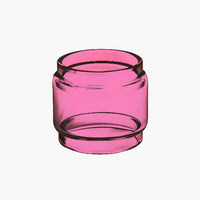 TFV8 - BIG Baby Beast - PINK - Color Tinted Pyrex - Extended Bubble Glass Replacement Pyrex - 7ML