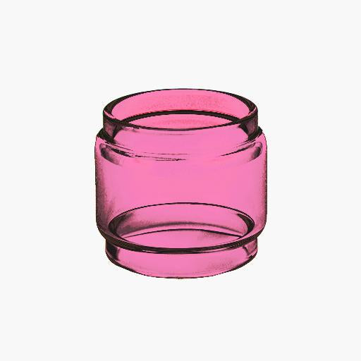 Zeus 25 RTA - Single Coil  - PINK Color Tinted Pyrex - Extended Bubble Glass Replacement Pyrex - 6ML