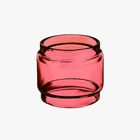 TF2019 - RUBY - Color Tinted Pyrex - Extended Bubble Glass Replacement Pyrex - 6ML