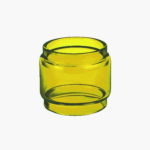 BABY V2 - TFV8 - YELLOW - Color Tinted Pyrex - Extended Bubble Glass Replacement Pyrex - 5ML