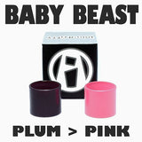 "The Baby Beast - TFV8 Tank - ""PLUM to PINK"" Color Change Pyrex Replacement Glass Tube Inked ATTY"