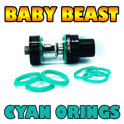 CYAN ORINGS Baby Beast TFV8 Color O-Rings fits Alien Kit