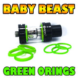 GREEN ORINGS Baby Beast TFV8 Color O-Rings fits Alien Kit