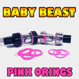 Baby Beast  TFV8 PINK ORINGS Color O-Rings by Inked ATTY Custom