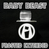 Pyrex Replacement Glass BABY BEAST EXTENDED FROSTED ETCHED GLASS FROST ETCH PYREX  fits Alien Kit