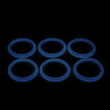 "Blazer PRO - FORCE GLOW ""BLUE"" ORINGS ( 3x Pair ) Silicone Rubber Seals by Inked ATTY"