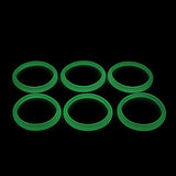 "Blazer PRO - FORCE GLOW ""GREEN"" ORINGS ( 3x Pair ) Silicone Rubber Seals by Inked ATTY"