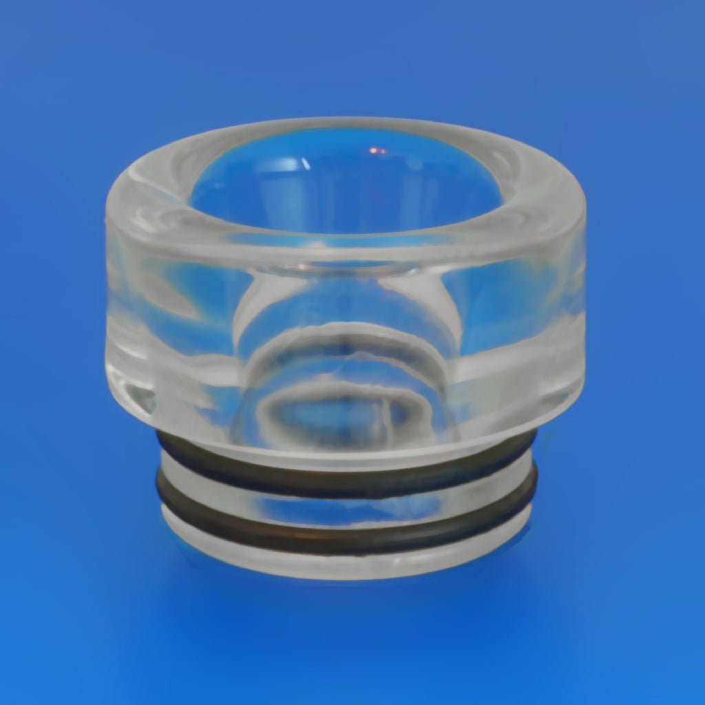 "CLEAR - RESIN Drip Tip - Mouth Piece - Heat Resistant - ( 810 Size  ) ""12.5mm Socket"""