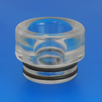 CLEAR - RESIN Drip Tip - Mouth Piece - Heat Resistant - ( 810 Size  )
