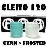 Cleito 120 - 5ML Extended - Cyan to Frosted Color Change Pyrex Replacement Glass