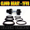 "CLOUD Beast - TFV8 ""BLACK"" Color Orings Seals Gaskets ( 3x Pair )"