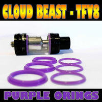 PURPLE ORINGS CLOUD Beast TFV8 O-Rings