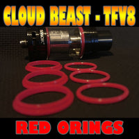 RED ORINGS CLOUD Beast TFV8 O-Rings