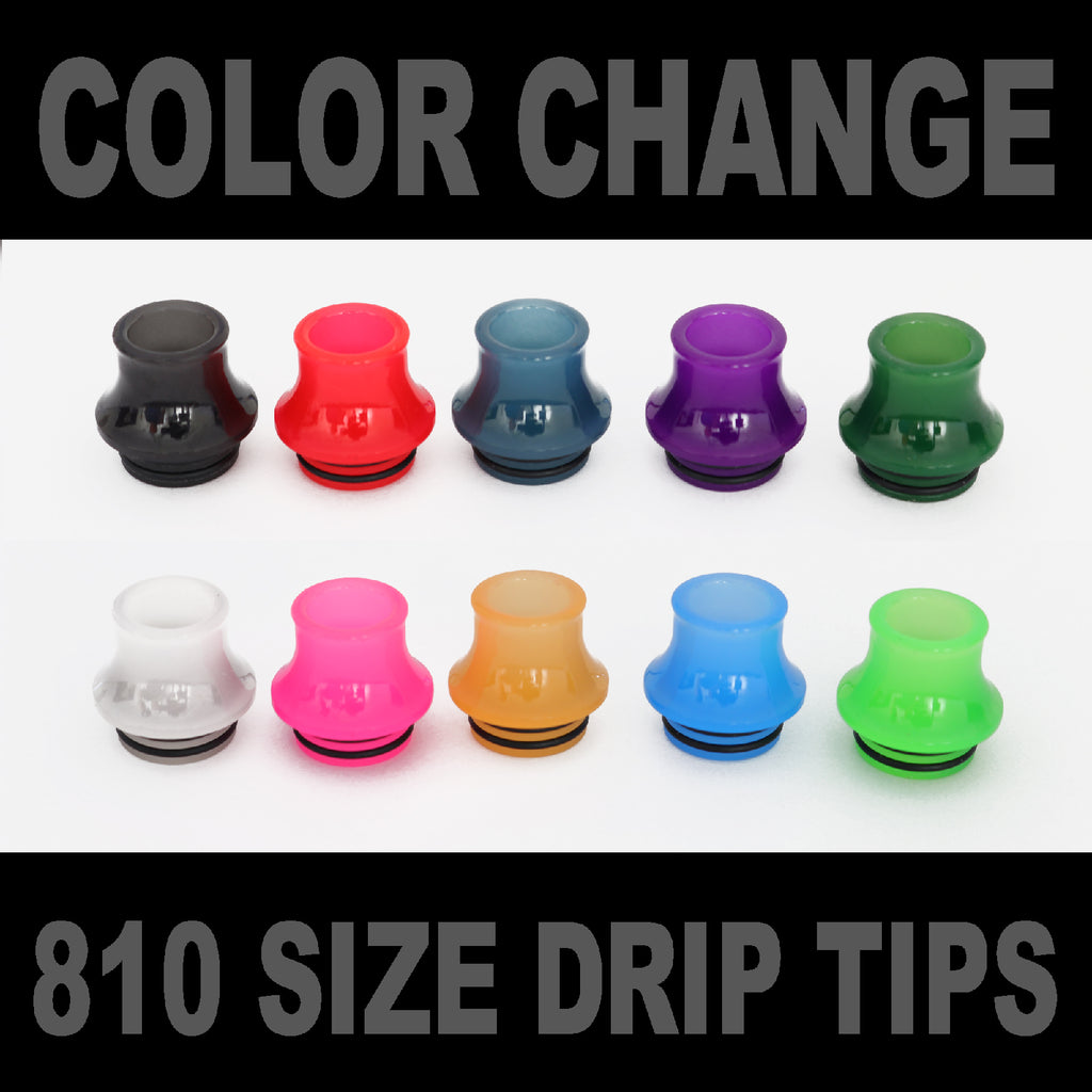"Color Change Drip Tip - Mouth Piece - ( 810 Size  ) ""12.5mm Socket"""