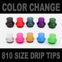 Color Change Drip Tip - Mouth Piece - ( 810 Size  )