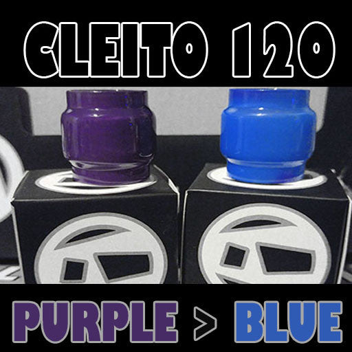 Cleito 120 - 5ML Extended - Purple to Blue Color Change Pyrex Replacement Glass