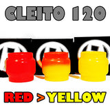Cleito 120 - 5ML Extended - RED to YELLOW Color Change Pyrex Replacement Glass