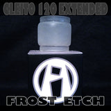 CLEITO 120 EXTENDED PYREX GLASS INKED ATTY FAT BOY FAT BABY FISH BOWL FROST ETCH Frosted Etched Pyrex Replacement Glass