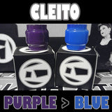 Cleito Original - 5ML Extended - Pyrex Replacement Glass Purple to Blue Color Change Glass Inked ATTY Pyrex
