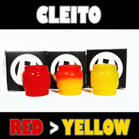 Cleito Original - 5ML Extended - Red to Yellow Color Change Glass Inked ATTY Pyrex