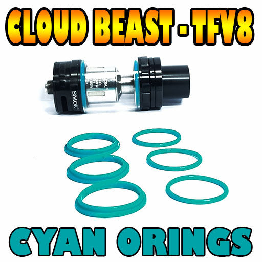 CYAN ORINGS CLOUD Beast TFV8 Color O Rings