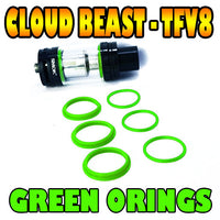 GREEN ORINGS CLOUD Beast TFV8 Color O Rings