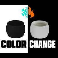 ALPHA TANK - Color Change BLACK TO FROSTED Extended Bubble Glass Replacement Pyrex - 4ML