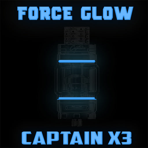 "Captain X3 - iJOY ""FORCE GLOW BLUE"" Color Orings Seals Gaskets ( 3x Pair ) FORCE GLOW"