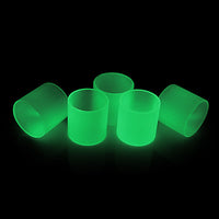 MELO 300 - FORCE GLOW - Pyrex Replacement Glass Tube Glow in the Dark 3.5ml and 6.5ml by Inked ATTY