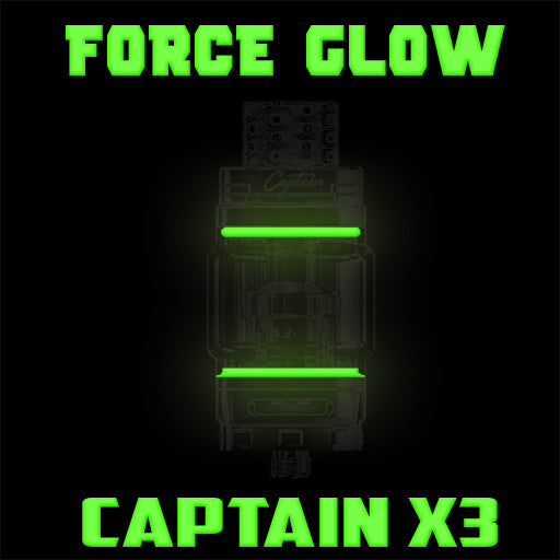 "Captain X3 - iJOY ""FORCE GLOW GREEN"" Color Orings Seals Gaskets ( 3x Pair )"