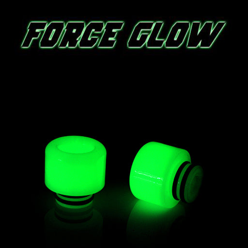 "FORCE GLOW - Resin Drip Tip - Mouth Piece - ( 510 Size  ) ""8.5mm Socket"""