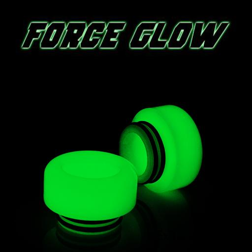 "FORCE GLOW - Resin Drip Tip - Mouth Piece - ( 810 Size  ) ""12.5mm Socket"" (Extra Low Profile)"