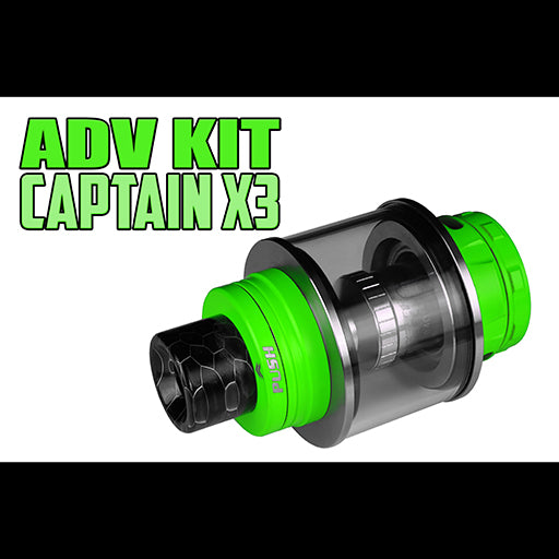 "Captain X3 - ADV Kit- ""ALL DAY VAPE KIT"" (13ML Expansion Tank) Replacement Glass Kit by Inked ATTY"