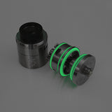 "iJoy 5 RDTA - FORCE GLOW ""GREEN"" Silicone Rubber Replacement O'Rings Seals Gaskets by Inked ATTY"