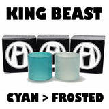 "Cloud Beast KING - TFV12 - ""CYAN to FROSTED"" Color Change Pyrex Replacement Glass"