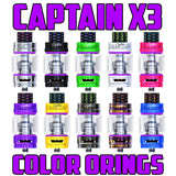 "Captain X3 - iJOY ""PURPLE"" Color Orings Seals Gaskets ( 3x Pair )"