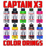 "Captain X3 - iJOY ""RED"" Color Orings Seals Gaskets ( 3x Pair )"