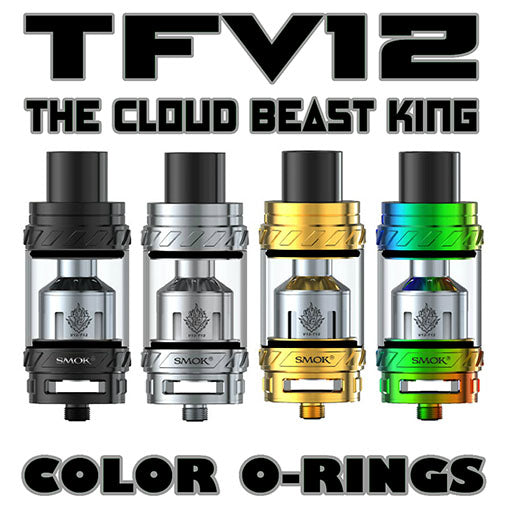 "The Cloud Beast KING - TFV12 ""BLACK"" Color Orings Seals Gaskets ( 3x Pair )"